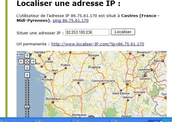 comment localiser adresse ip